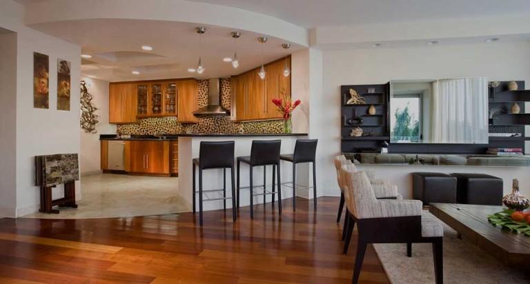 Дизайн кухни и гостиной вместе в квартире